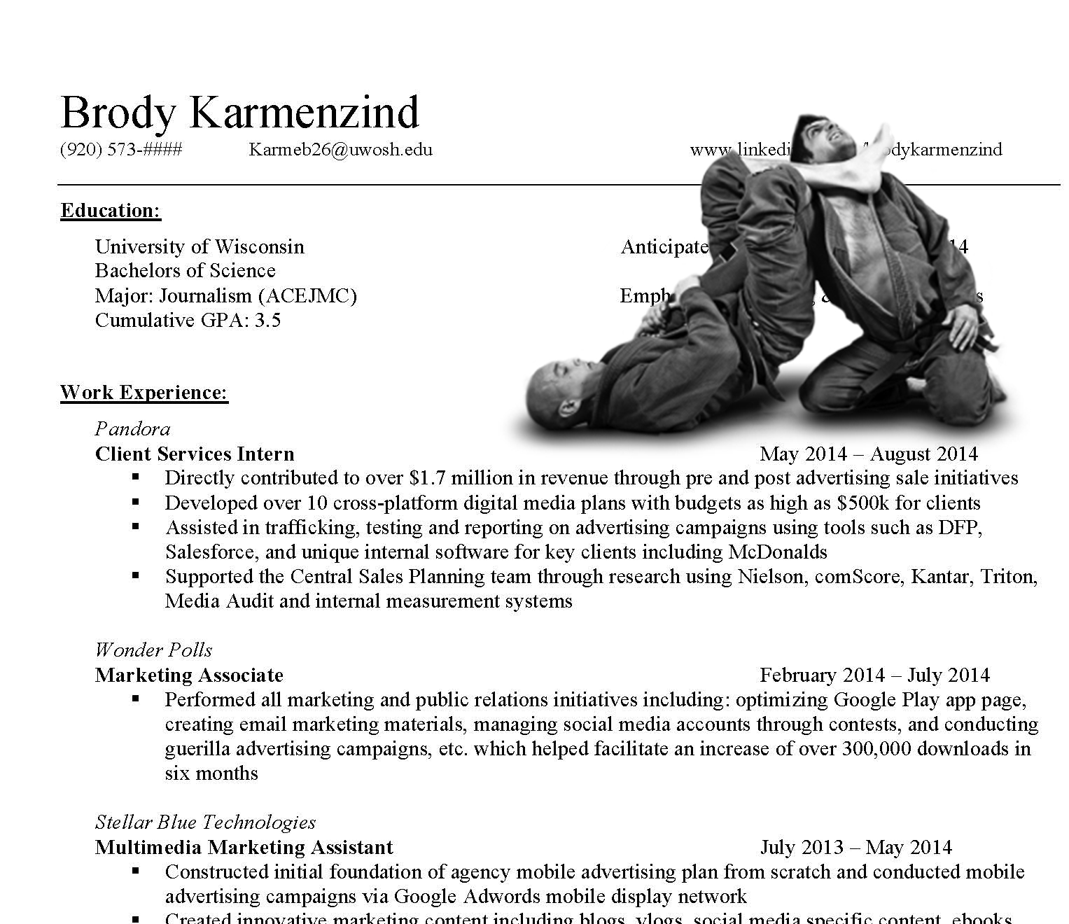 BJJ RESUME  Updating Your Resume